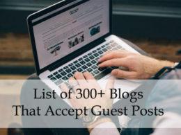 300+ guest posting sites