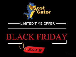 HostGator Black Friday Offer