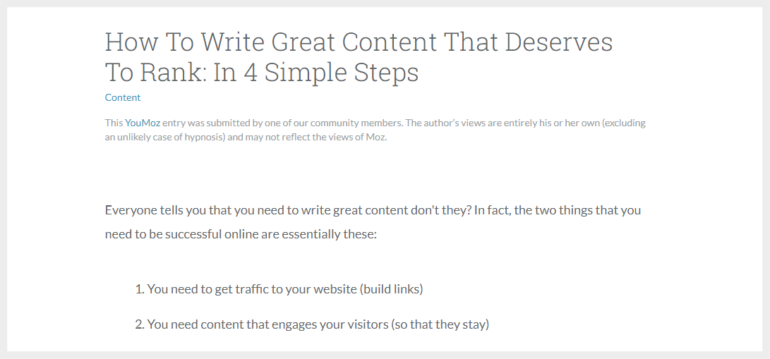How to write content