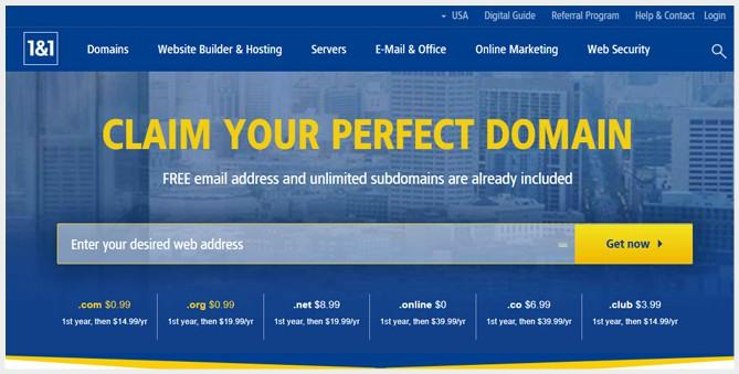 1and1 Domain Registrar