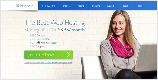 BlueHost Best Domain registrars 2018