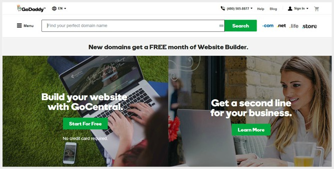 Godaddy best domain name registrar 2018