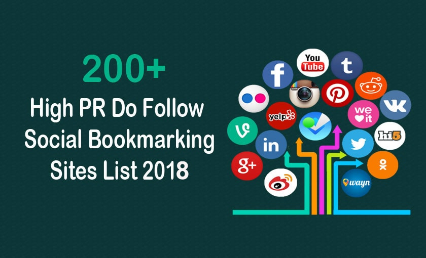 High Authority Dofollow Social Bookmarking Sites List