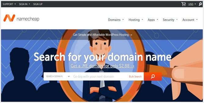 Namecheap Best Domain name registrars