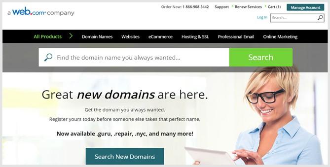 Network Solutions Best Domain registrars