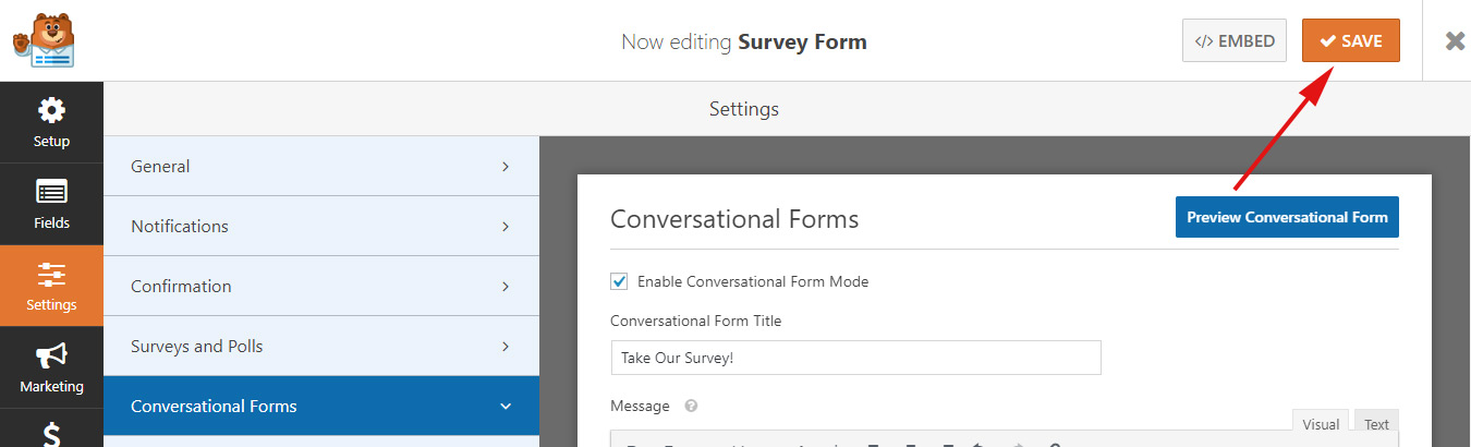 Preview Conversational Form