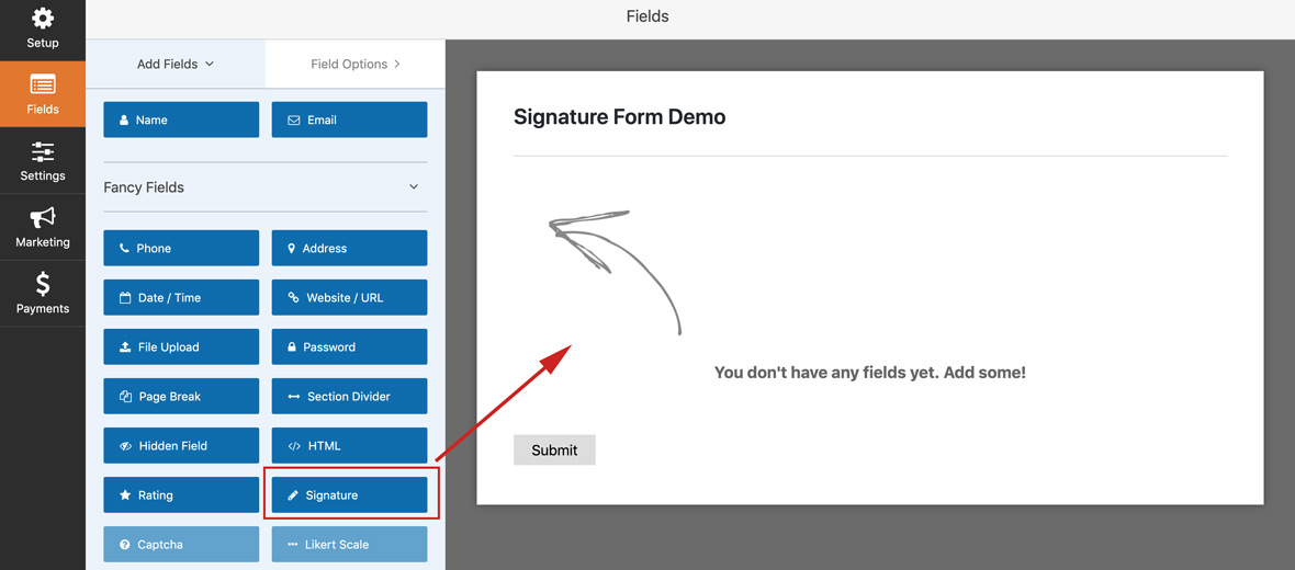 Create Your Own Signature Form