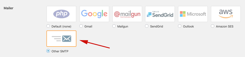 Select Mailer option