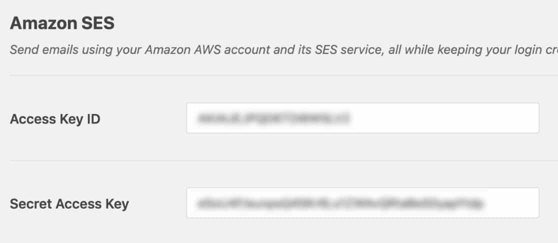 Enter AWS Access Key ID and Secret Access Key