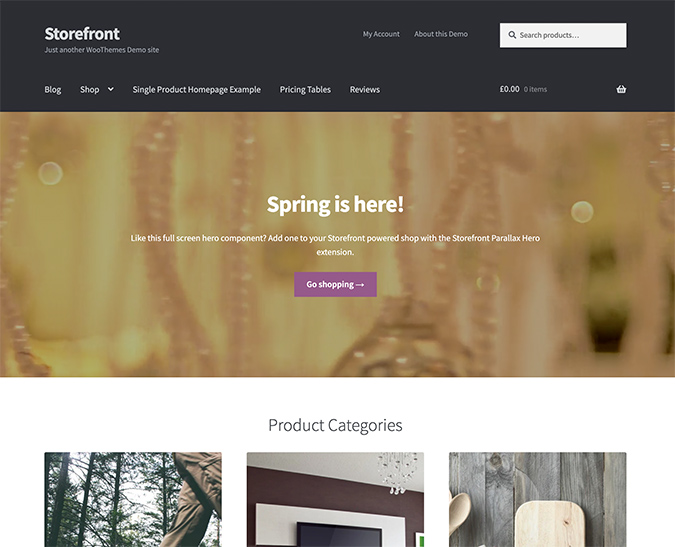 Storefront WordPress Theme