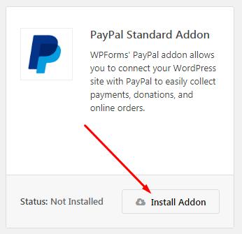 Paypal Standard Addon in Wpforms