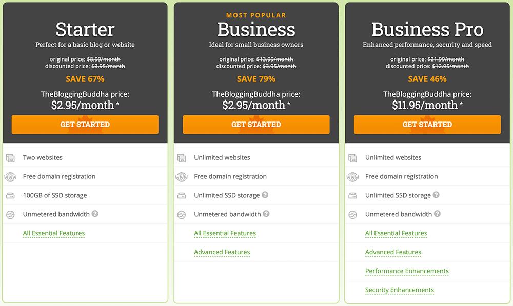 HostPapa pricing