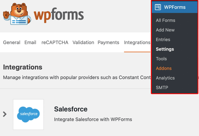WPForms Salesforce Integration