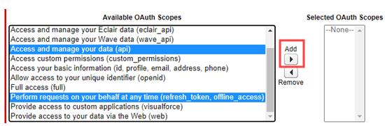 add oauth permissions