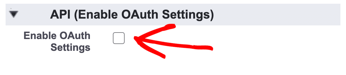 salesforce enable oauth box