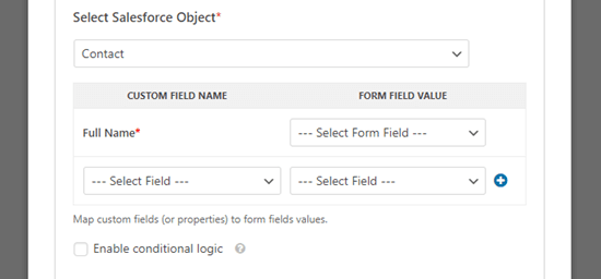 salesforce object custom fields