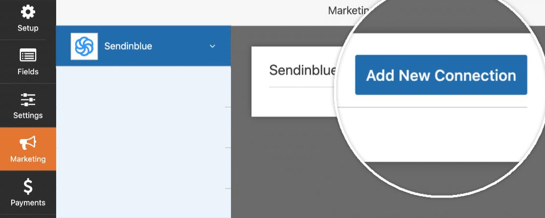 Add new sendinblue connection
