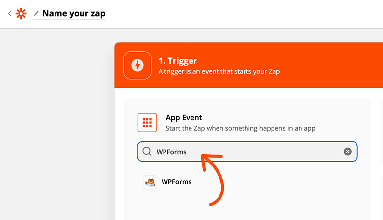 Search WPForms in Zapier