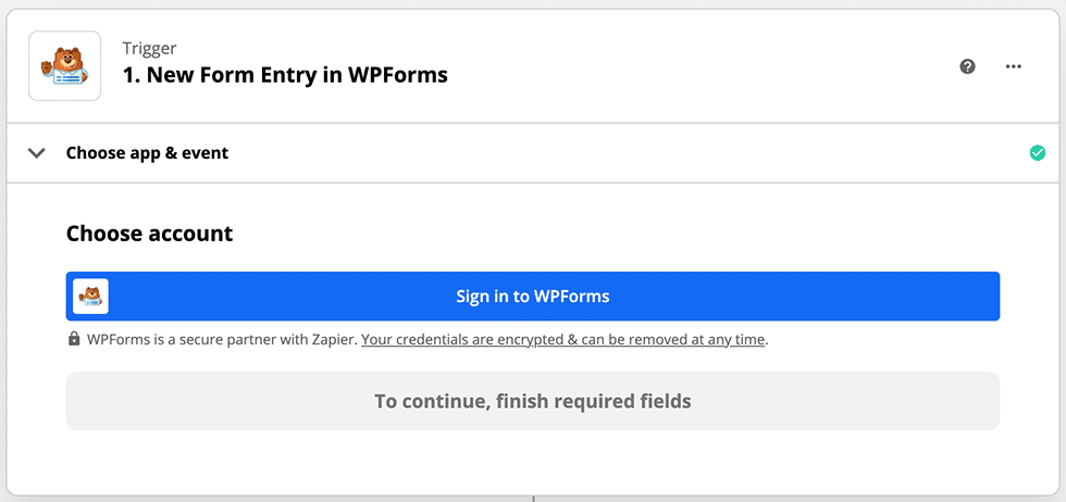 connect Zapier to WPForms