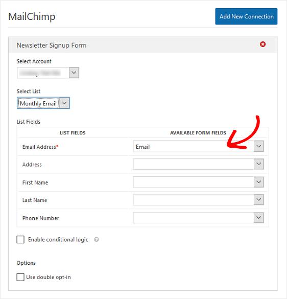Configure MailChimp Settings
