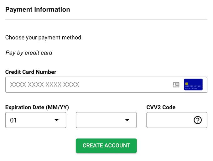 Enter Payment Details