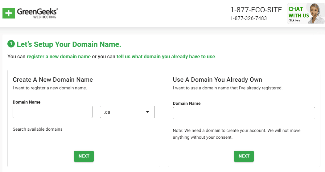 Setup your domain name
